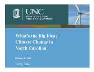 Climate Change in North Carolina - Institute for the Environment at ...