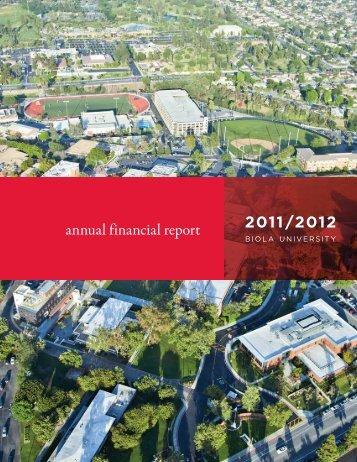 annual financial report 2011/2012 - Biola University