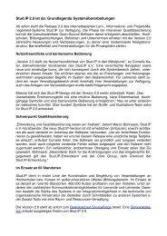 Pressemitteilung zur Veröffentlichung der Version 2.0 ... - Stud.IP