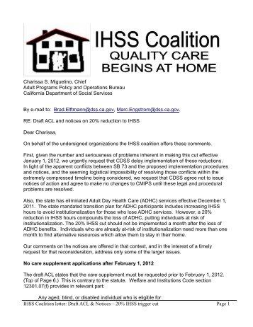 View IHSS Coalition response.