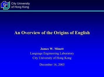 An Overview of the Origins of English