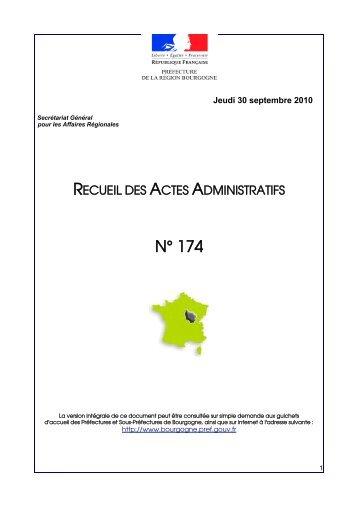 RAA 174 - Préfecture de la Côte-d'Or