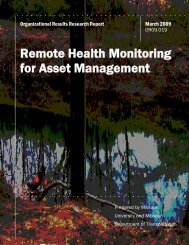 Remote Health Monitoring for Asset Management