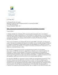 lettre au Bureau de l'agent en chef de la protection de la vie privée de