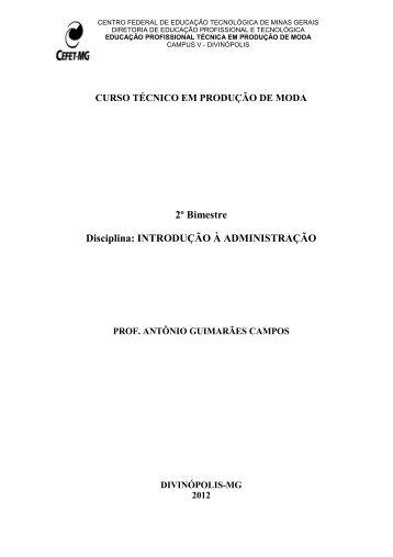 Apostila_CEFET_2 BIM_12_ADM - CEFET-MG