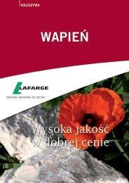 Wapień Lafarge Kruszywa - ulotka