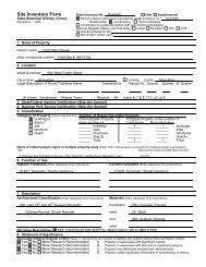 Site Inventory Form State Inventory No - Musser Public Library