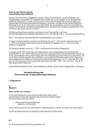 Satzung des Zweckverbandes Gruppenkläranlage Glattbach