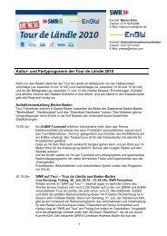 Programm und Etappen