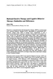 Rational-emotive therapy and cognitive behavior therapy ...