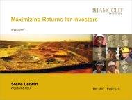 View this Presentation (PDF 4.75 MB) - Iamgold