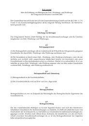 Beitragssatzung für Feld-, Weinbergs- und Waldwege