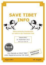 Save Tibet Info August 2013