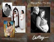 Maternity Portrait Price Guide - LeMay Photography