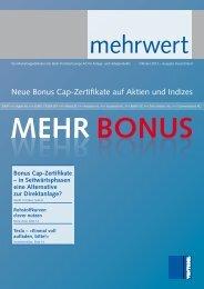 Neue Bonus Cap-Zertifikate auf Aktien und Indizes - Vontobel ...