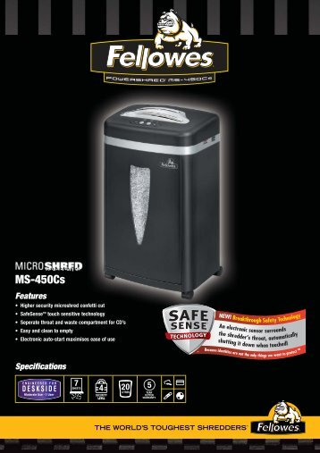 Fellowes MicroShred 450Cs Brochure.pdf - Trade Shredders