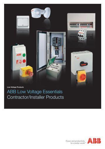 ABB Low Voltage Essentials Contractor/Installer ... - LUCKINSlive