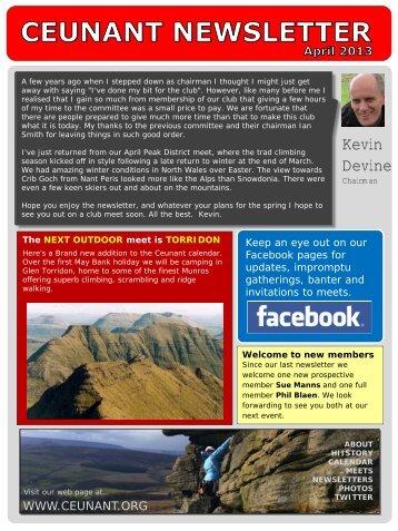 April 2013 - Ceunant Mountaineering Club