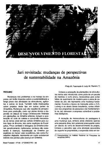 Jari revisitada: mudancas de perspectivas de sustentabilidade na ...