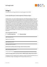 Anlage 3 - Zustimmungserklärung ... - EGT Energie