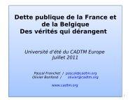 Service de la dette publique belge - cadtm