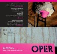 Infoflyer 2009/2010 - Hochschule für Musik, Theater und Medien ...
