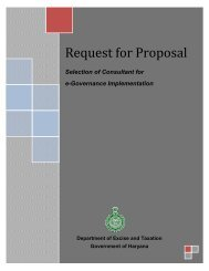 Request for Proposal - Government of Haryana