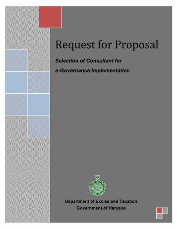 how to write a government request for proposal