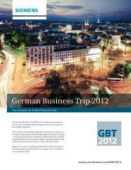 German Business Trip 2012 - Siemens Industry, Inc.