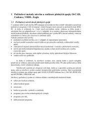 1 Počítačové metody návrhu a realizace plošných spojů ... - UMEL