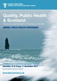Annual Public Health Conference - Making Scotland a Healthier Place