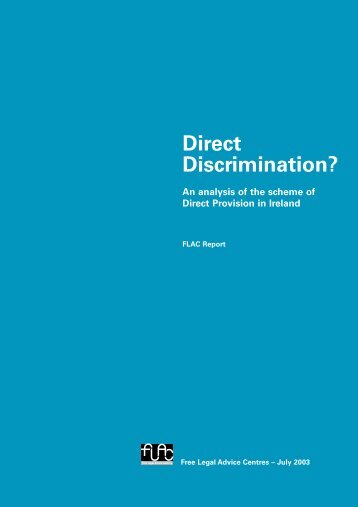Direct Discrimination? - FLAC (Free Legal Advice Centres)