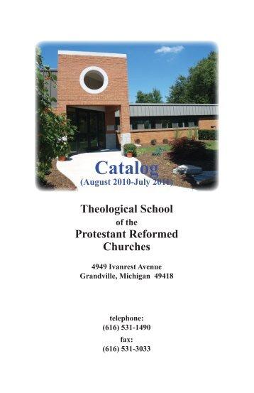 Catalog - Protestant Reformed Churches in America