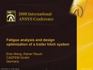 Fatigue analysis and design optimization of a trailer hitch system
