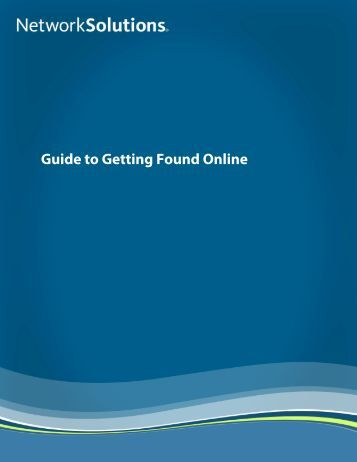 Guide to Getting Found Online - Free Books