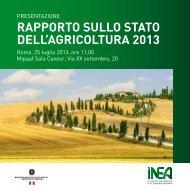 rapporto-agricoltura-inea-luglio-2013invitoRSA2013.pdf - AgroNotizie
