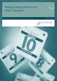 Key messages - waiting times - Audit Scotland