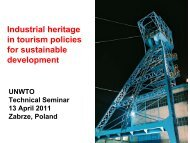 Industrial heritage in tourism policies for sustainable ... - Europe