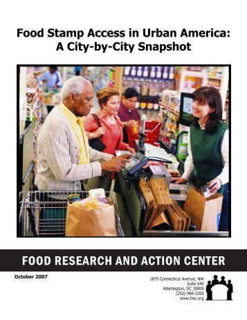 Food Stamp Access in Urban America - Released October 2007