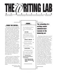 27.3 - The Writing Lab Newsletter