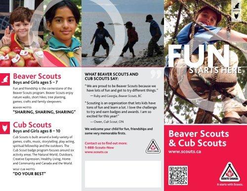 Beaver Scouts & Cub Scouts - Scouts Canada