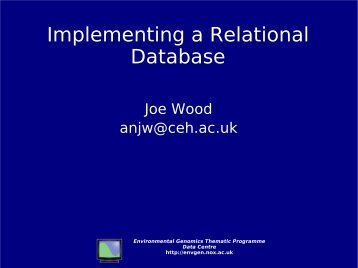 Implementing a Relational Database