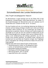 Projektbeschreibung Lehrkraft - WaldWert eV