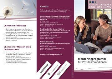 Mentoringprogramm für Postdoktorandinnen - Martin-Luther ...