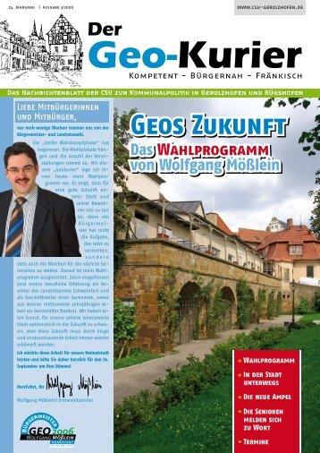 Geos Zukunft Geos Zukunft - Wolfgang-Moesslein.de