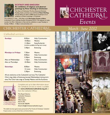 Events Leaflet March - June 2012 - Chichester Cathedral