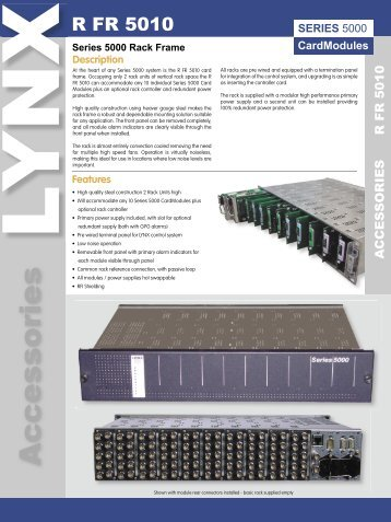 Series 5000 Rack Frame Specifications - LYNX Technik AG