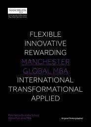 Flexible innovative RewaRding ManchesteR global Mba ...