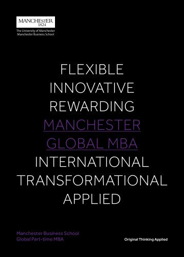 Flexible innovative RewaRding ManchesteR global Mba ...