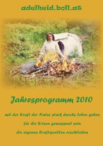 Jahresprogramm 2010 - Katrin Burkhardt
